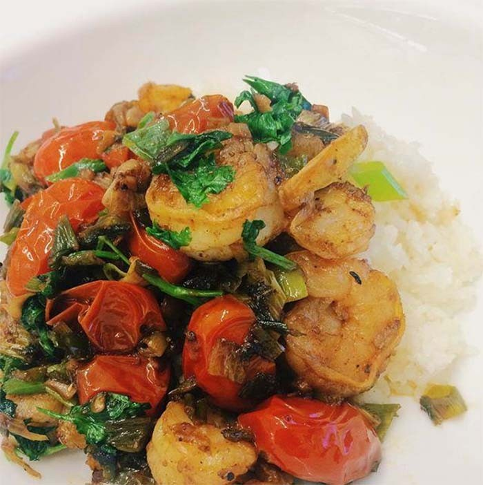 Shrimp and Cherry Tomatoes