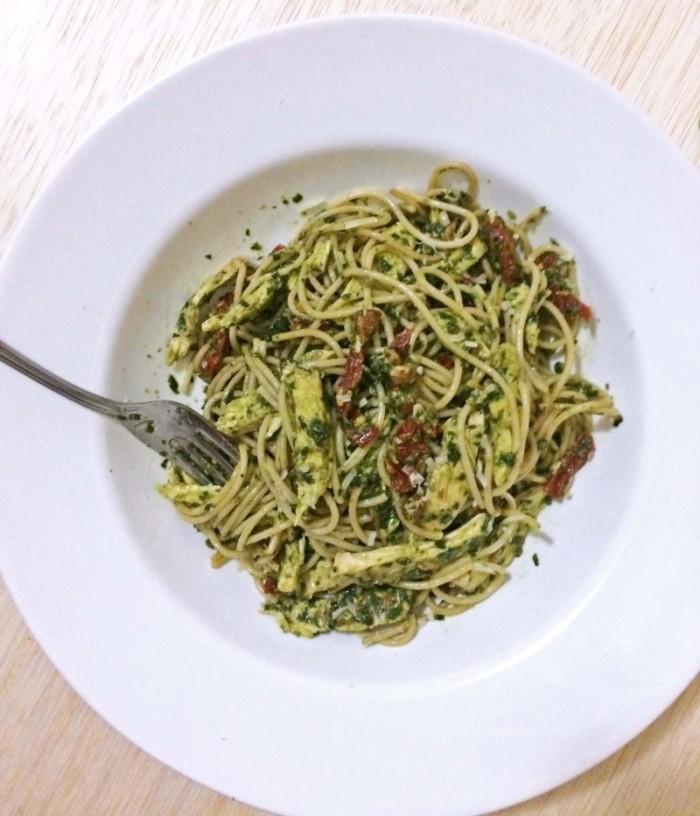 Basil Pesto Pasta with Chicken
