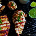 Yogurt Marinated Grilled Chicken with Tzatziki Sauce