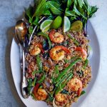 Spicy Thai Basil Fried Rice with Shrimp