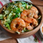 Napa Cabbage and Cucumber Salad with Shrimp