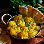 Kopi Bhaaji/Aloo Gobi (Spicy Cauliflower and Potato)