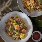 Ginger Garlic Fried Rice w/ Shrimp & Beef