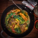 Bengali Fish Curry w/ Seem (Flat Green Beans)
